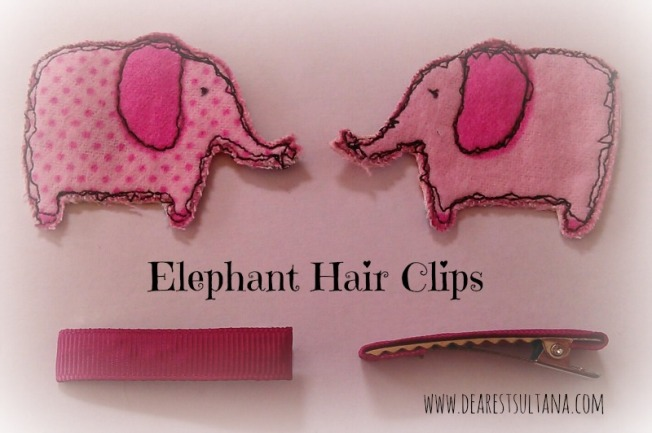 Elephant Hair Clips