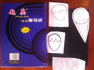 Carbon paper and templates