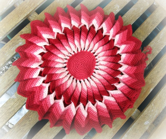 Crocheted Cushion Cover