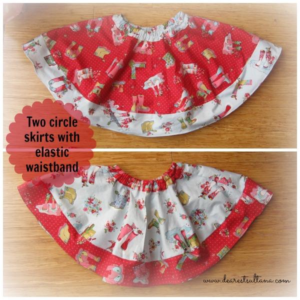 Circle Skirts with elastic band