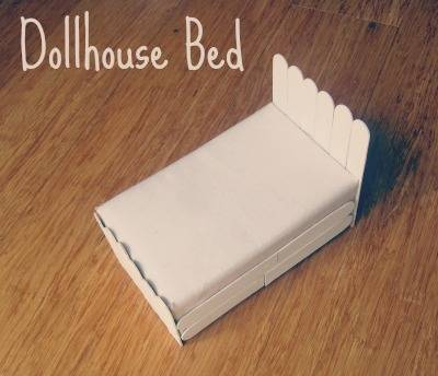 dollhouse bed no quilt