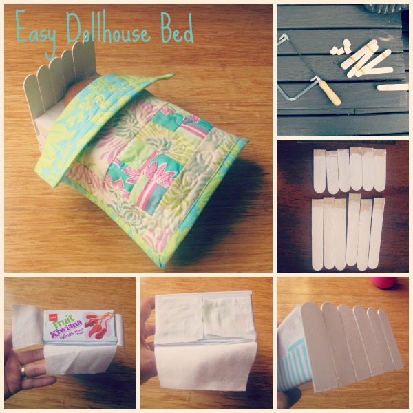 Easy Dollhouse Bed