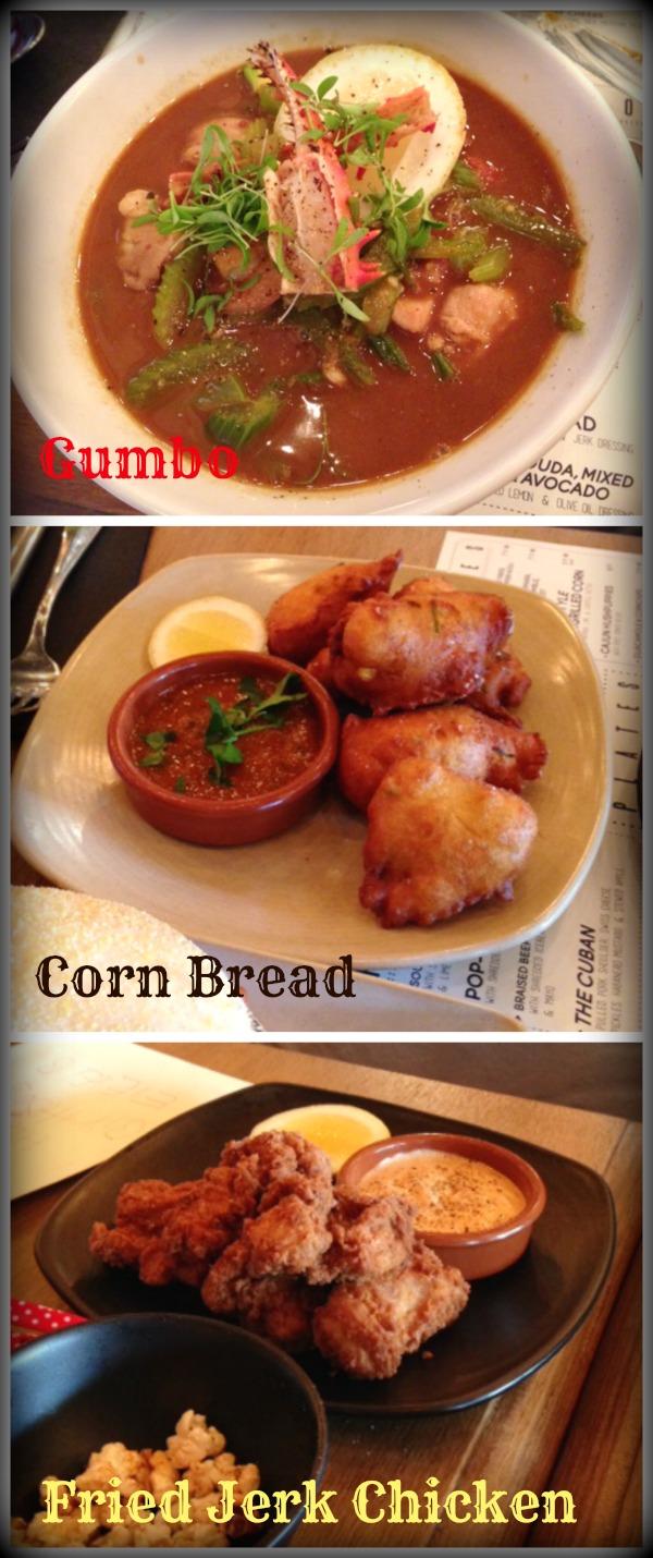 Miss Clawdy Gumbo Corn Bread Jerk Chicken