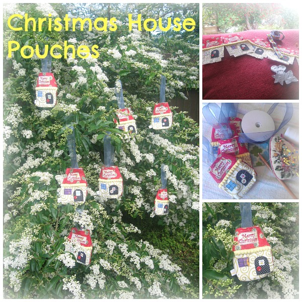 Christmas House Pouches