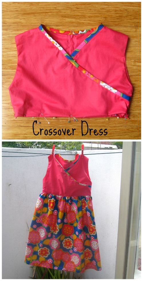 Crossover girls dress